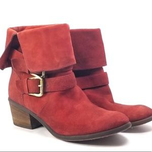 Donald Pliner Red Suede Boots